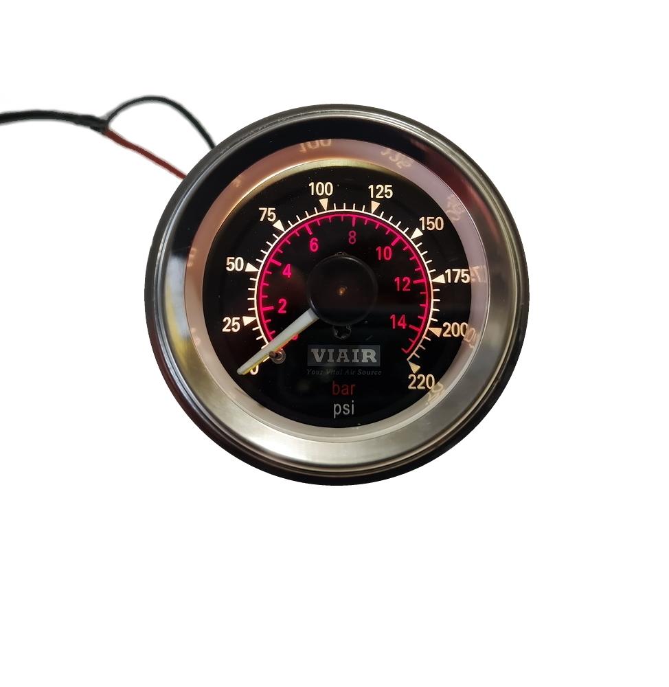 манометр виар двухстрелочный с подсветкой черный
